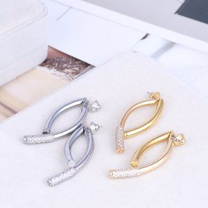 Henri Bendel Simple Metal Wind Geometric Earrings